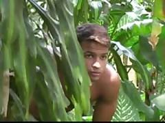 Jungle Latino Threesome