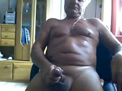75 Year Old  Jerking And Cumming