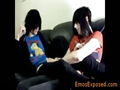 Two Homo Goth Twinks Fucking On The Bed By Emosexposed