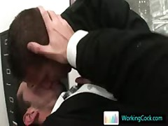 Exciting Homosexual Hotties Fucked And Sucked In Work By Workingcock