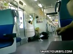 Jerking In Public On The Subway