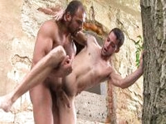 Muscle Stud Fucks Twink In Abandoned Ruins