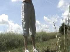 Gay 19YO Strips Off In A Field On A British Summers Day