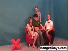 3 Young Boys Fuck Each Other