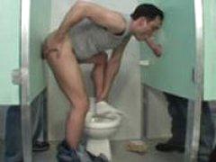 Bareback Bathroom Cum Dump