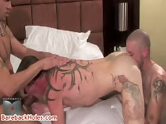 Sage Daniels, Trevor Tryst And Shane Stone In Homosexual Groupsex 2 By BareBackHoles