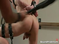 Josh Strung And Hung From Ceiling Gay BDSM Clip 1 By BoundPride
