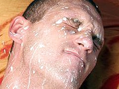 Hot Guy Gets A Big And Nasty Creampie All Over His Face