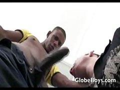 Eager White Boy Sucks Black